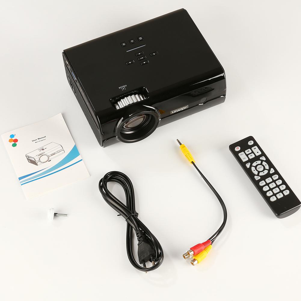 U45 Mini Projector Portable Home Theater Entertainment Projector Supports 1080P HD Projector Watching Movie black_European regulations