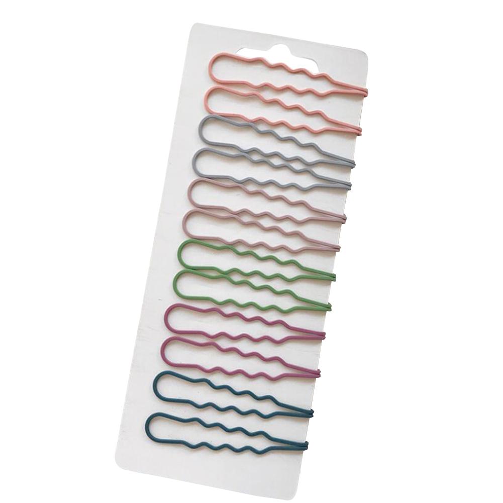 12pcs/set Hollow Out Fashion Hair Clip Hair Bangs Clip Decoration
