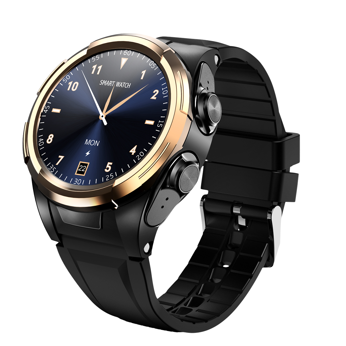 Metal S201 Smart Watch Men Bluetooth Thermometer Full Touch Screen Sports Smartwatch Smart Wristband black gold