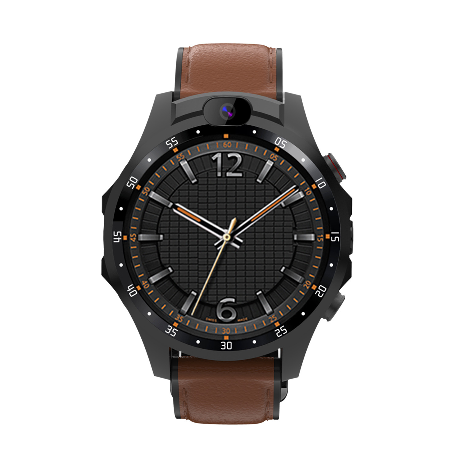V9 Smart Watch Heart Rate Monitor Real-time Location Dual Camera Lens 800mAh Battery Smartwatch Brown