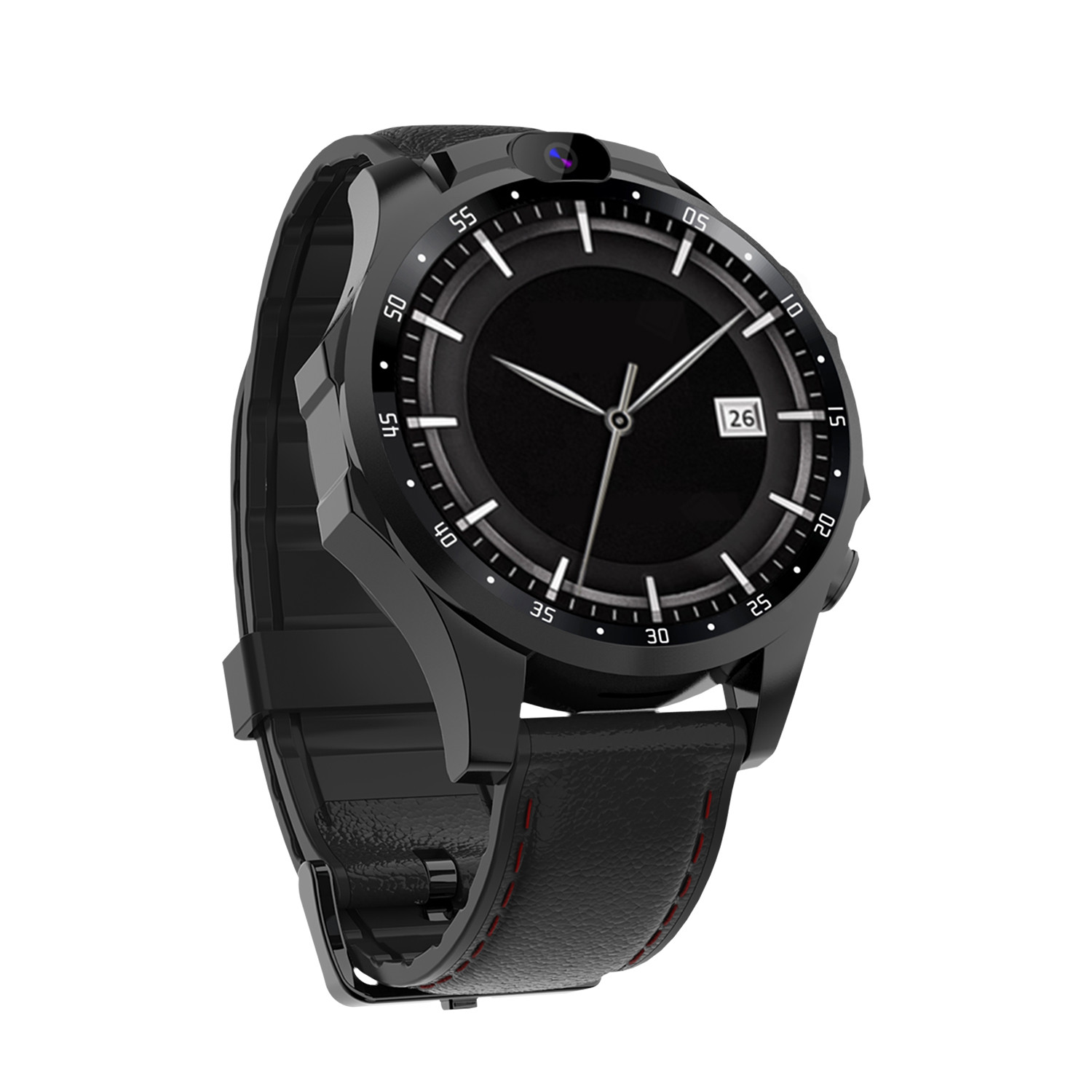 V9 Smart Watch Heart Rate Monitor Real-time Location Dual Camera Lens 800mAh Battery Smartwatch Black