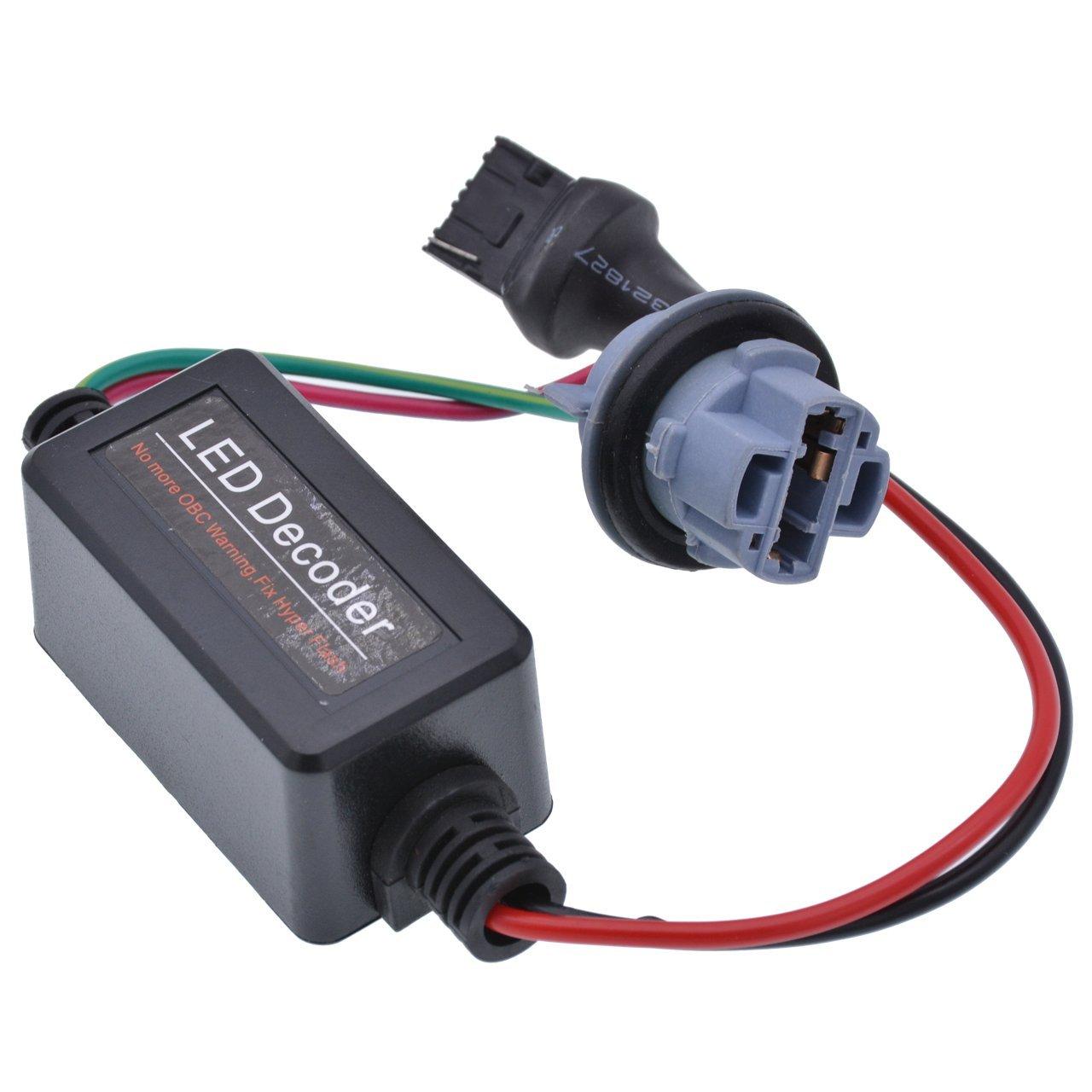 2pcs 7440/T20 (Single Line) Car LED Decoder Warning Error Canceller Turn Signal Light Lamp Anti Flicker