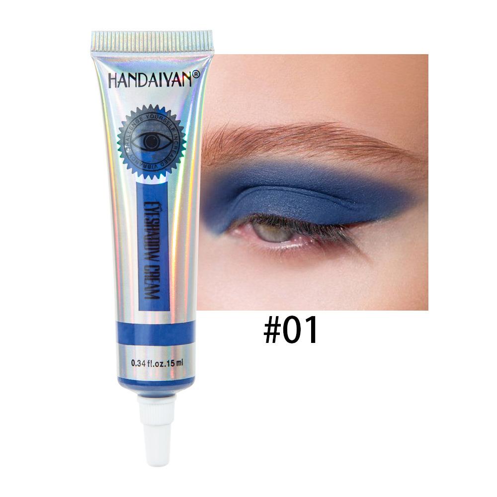 Universal 12 Colors Matte Eyeshadow Lasting Eye Shadow Cream for Women 1#
