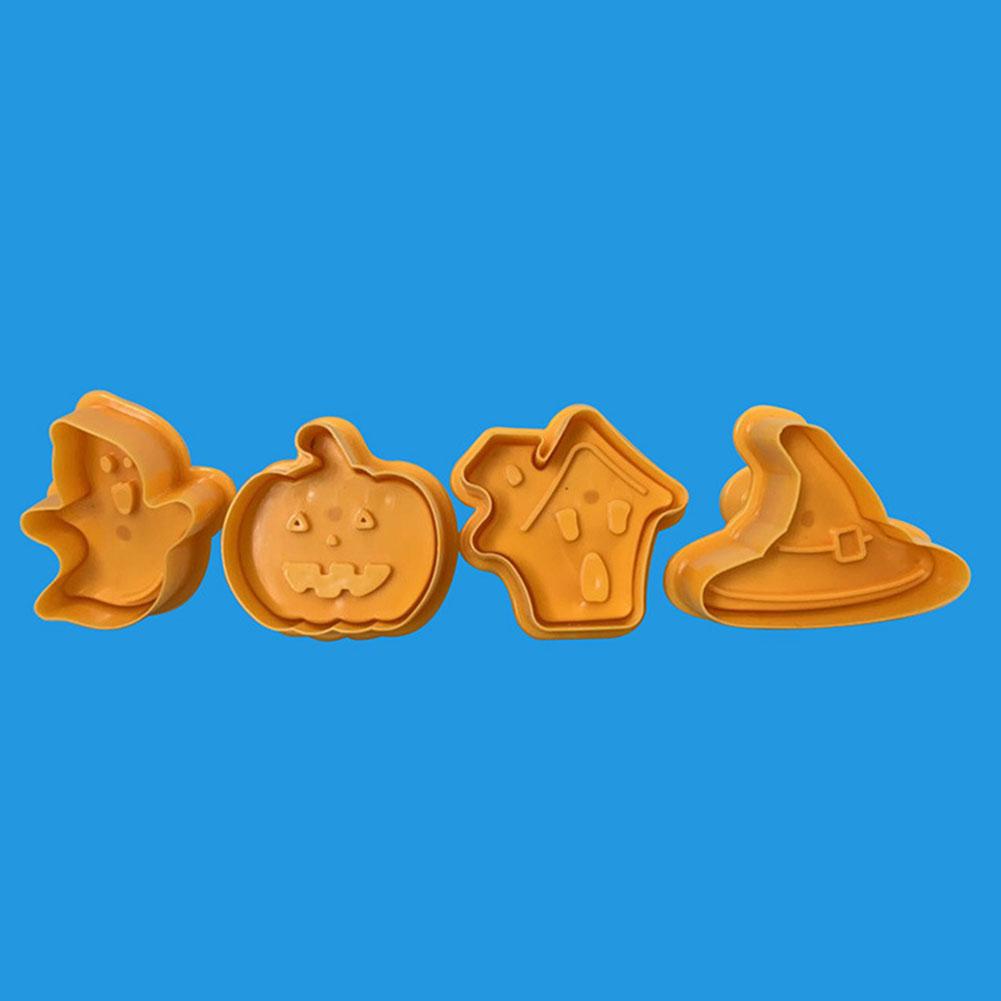 4Pcs/Set Easy Demoulding Molds for Halloween Kitchen Cake Cookie Baking OPP packaging