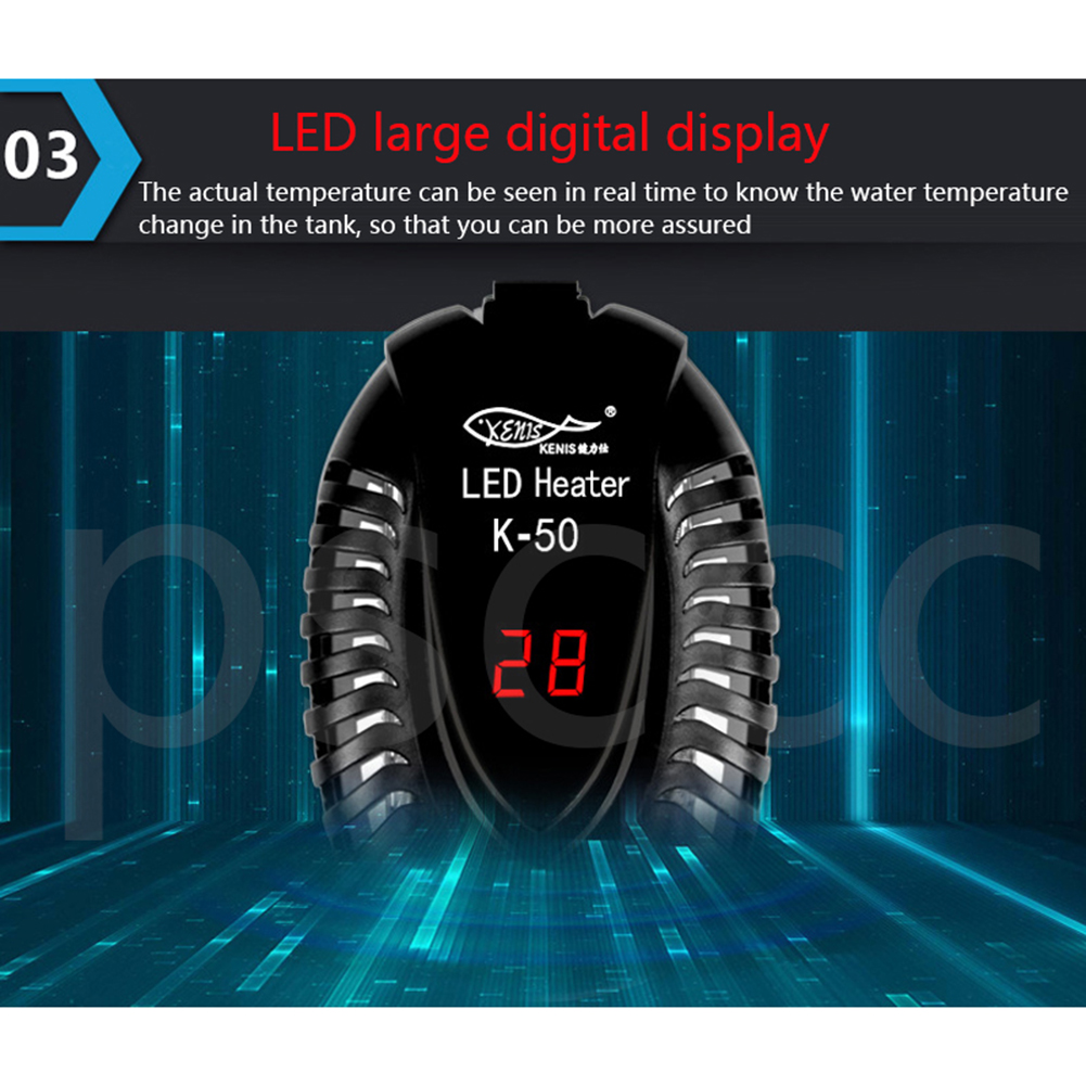 Heating  Rod Low Water Level Mini Short Heater Automatic Electricheating Rods Fish Bowl Digital Temperature Controller For Tortoise 25w