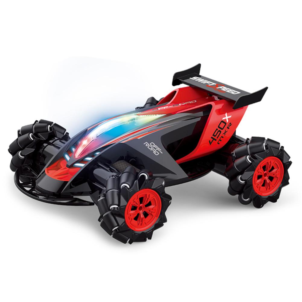 1/10 Children Toys Remote Control Car Climbing Car 360 Degree Stunt High Speed Drift Car  1/10 black (full set)