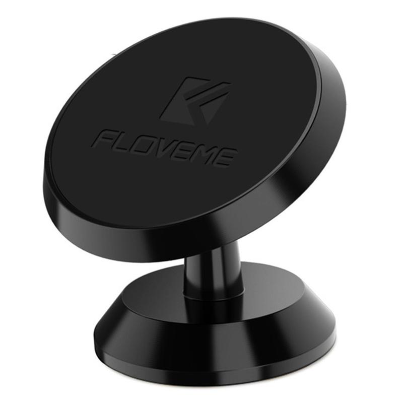 Universal Mini Car Phone Holder 360 Degree Rotatable Magnetic Phone Air Vent Mount Holder black