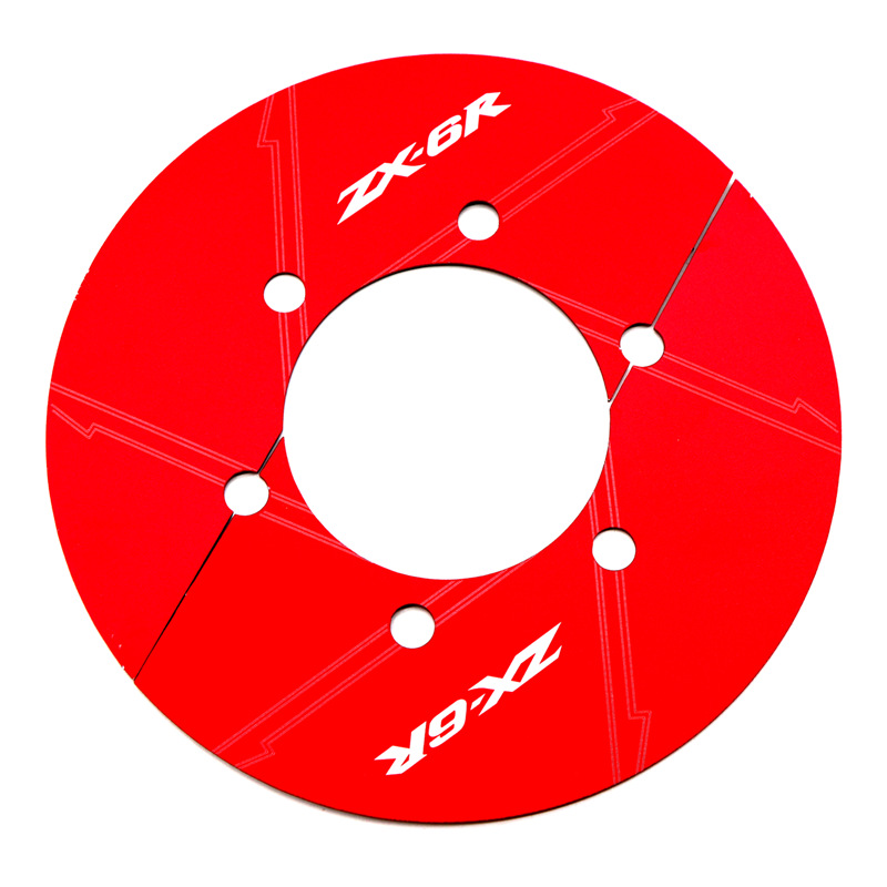 Motorcycle Rear Chain Gear Decorative Cover for KAWASAKI ZX-6R 13-17 red