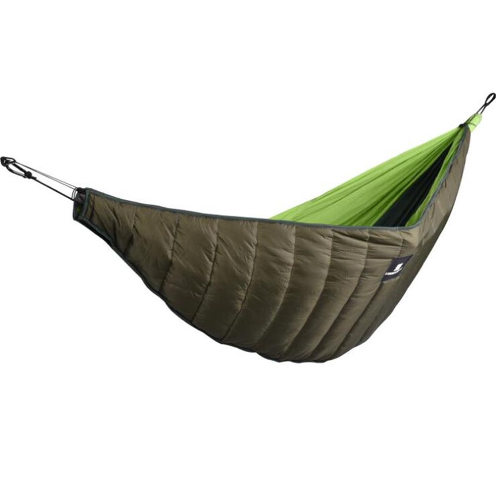 Hammock Underquilt Sleeping Winter Warm Under Quilt Blanket for Outdoor Camping ArmyGreen_200g cotton hammock