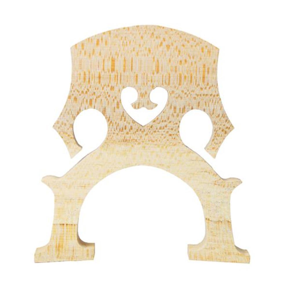 [US Direct] Maple Violoncello Bridge Cello Parts Size 4/4 Exqusite Manual Art Cello Accessories Wood color