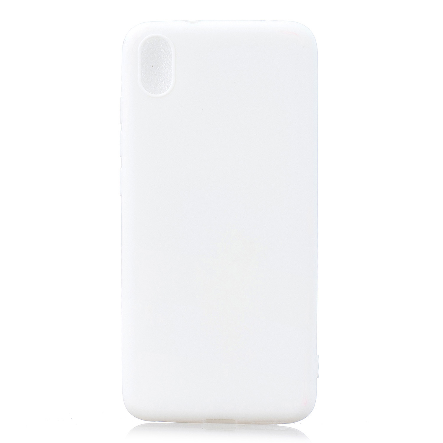 For Redmi 7A Lovely Candy Color Matte TPU Anti-scratch Non-slip Protective Cover Back Case white