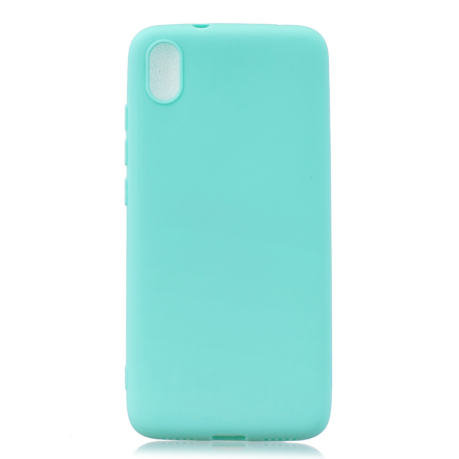 For Redmi 7A Lovely Candy Color Matte TPU Anti-scratch Non-slip Protective Cover Back Case Light blue
