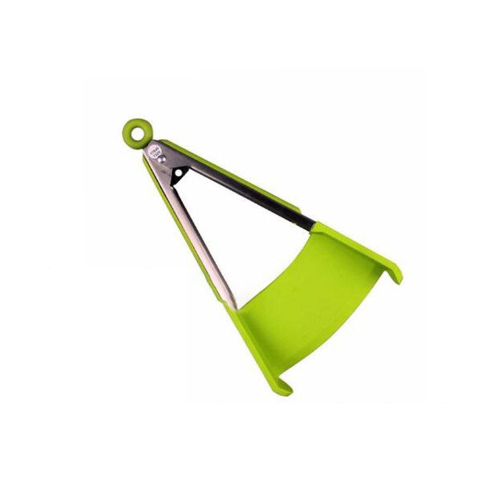 2 in 1 Clever Tongs Non Stick Heat Resistance Kitchen Spatula and Tongs