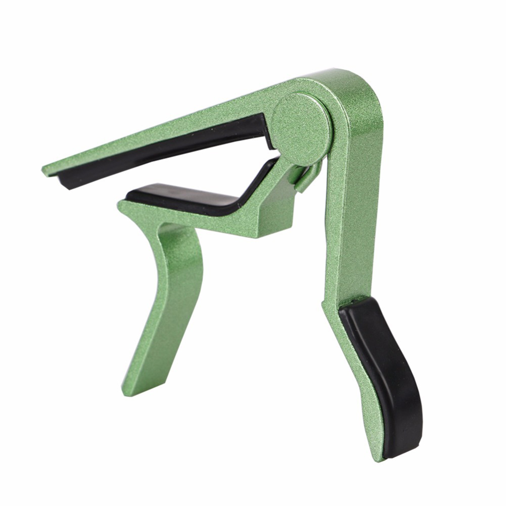 Metal Guitar Capo Quick Change Clamp Key Acoustic Classic Guitar Capo for Tone Adjusting green