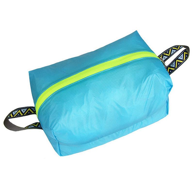 Outdoor Travel Light Shoes XL Storage Bag Portable Waterproof Laundry Storage Bag Wash Bag Blue_XL