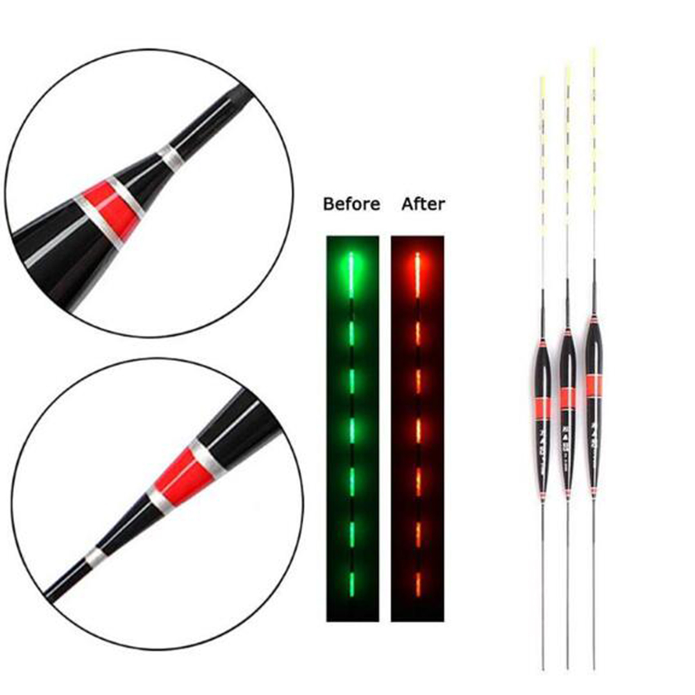 Bite Color-changing Hook Electronic Drift for Crucian and Carp High Sensitive Shadowless Floating Drift Xiang A Changed Light [Red Black] 1#