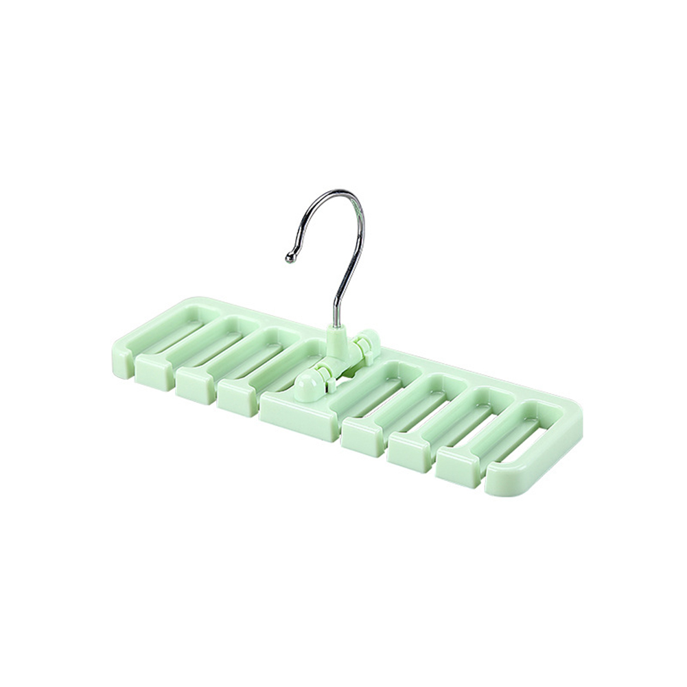 8 Loops Closet Storage Rack Belt Tie Scarf Organizer Hanger Holder Space Saver green_22.7X7.5X10.8cm