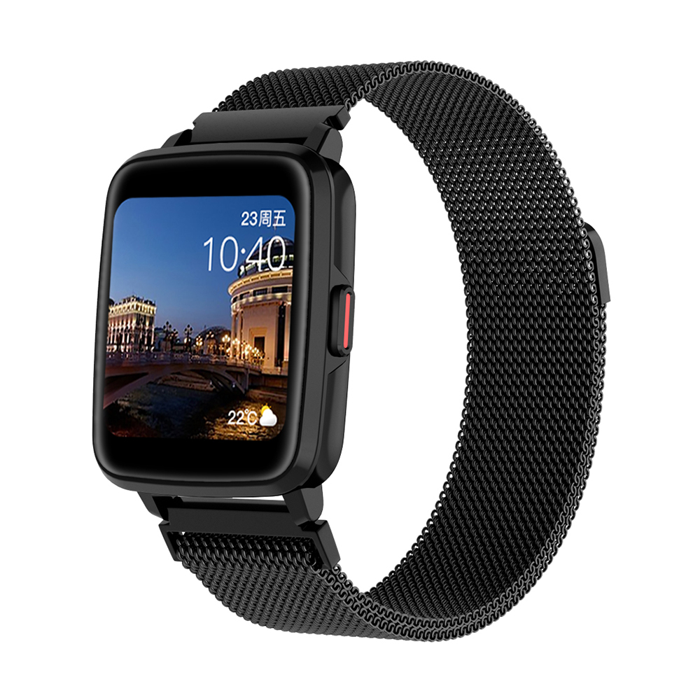 Smart  Watch Hd Screen Music Ip68 Waterproof Sports Monitoring Heart Rate Sleep Pedometer Smart Watch Black steel belt