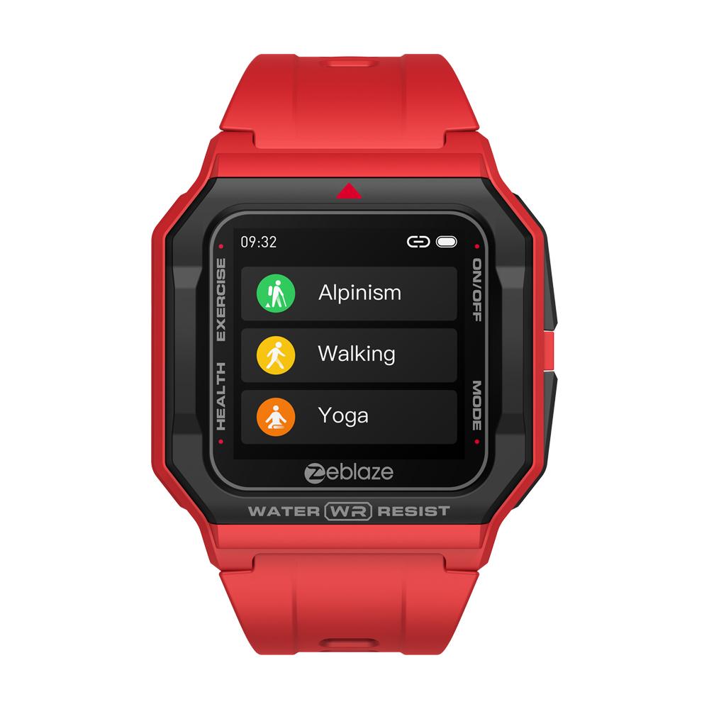 Original Zeblaze Retro Smart  Watch 30m Waterproof Hd Display Heart Rate Monitor Blood Pressure Fitness Tracker Watch Orange