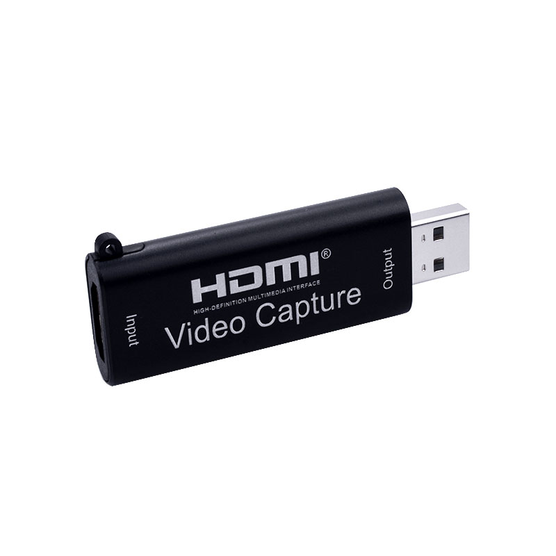 HDMI Video Capture Card for OBS Live Stream Broadcast Case Automatically Adjust Settings  black
