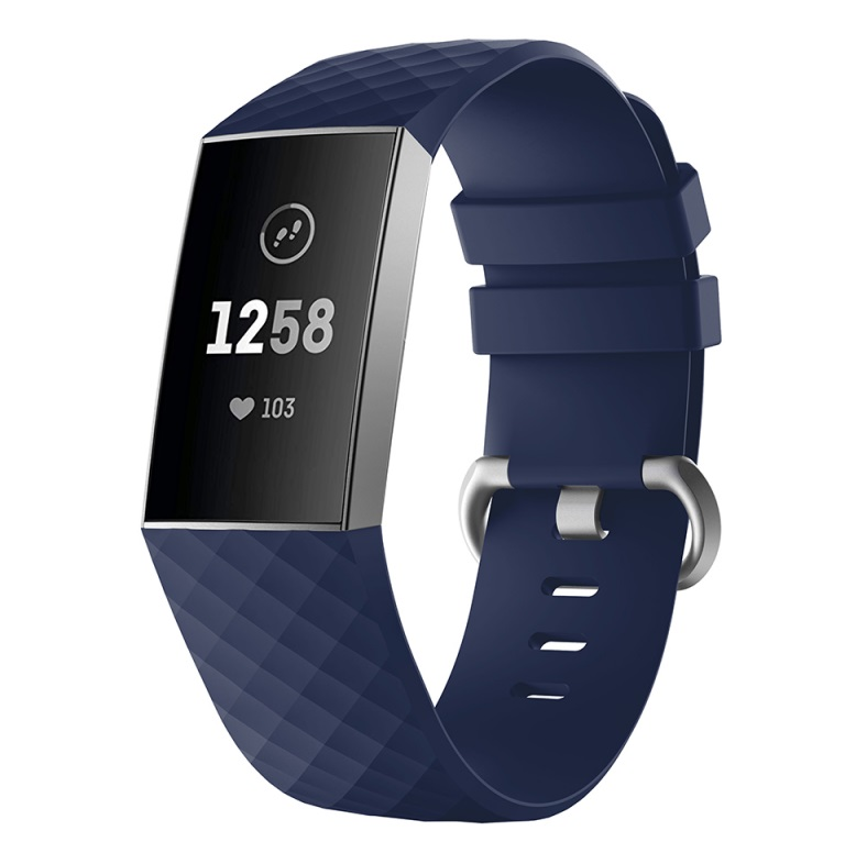 Watch Bands Compatible with Fitbit Charge 3/ Fitbit Charge 4 Waterproof Replacement Watch Strap Wristband blue_L