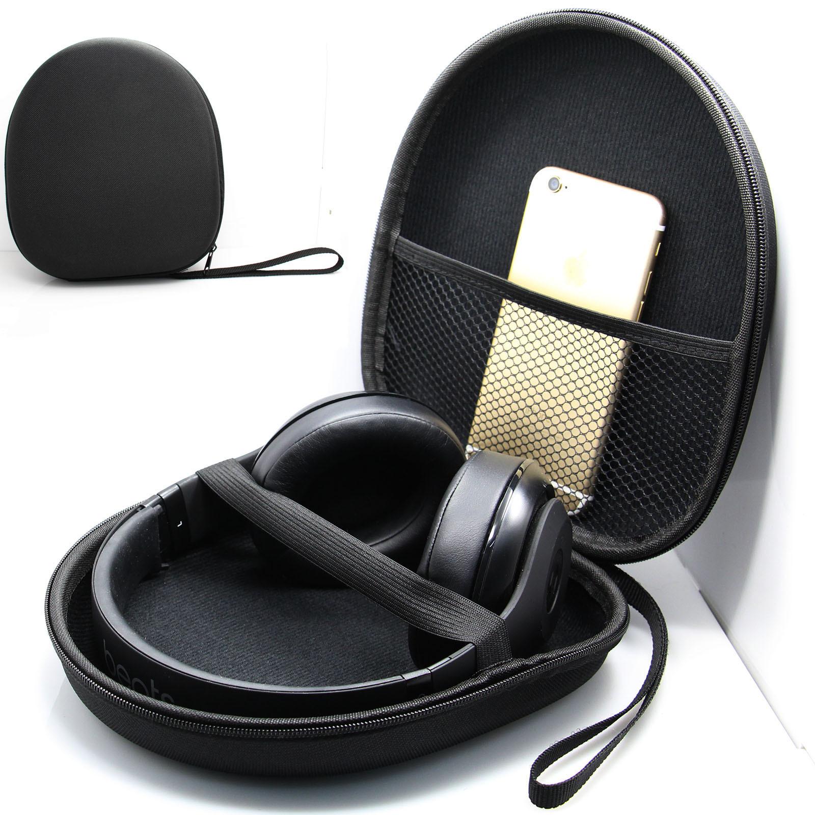 EVA Hard Shell Carrying Practical Headphones Case Headset Box Earphone Cover Travel Bag for SONY Sennheiser  red