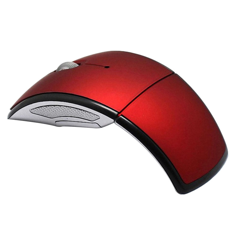 2.4g Wireless Mouse Portable Foldable Notebook Computer Accessory red