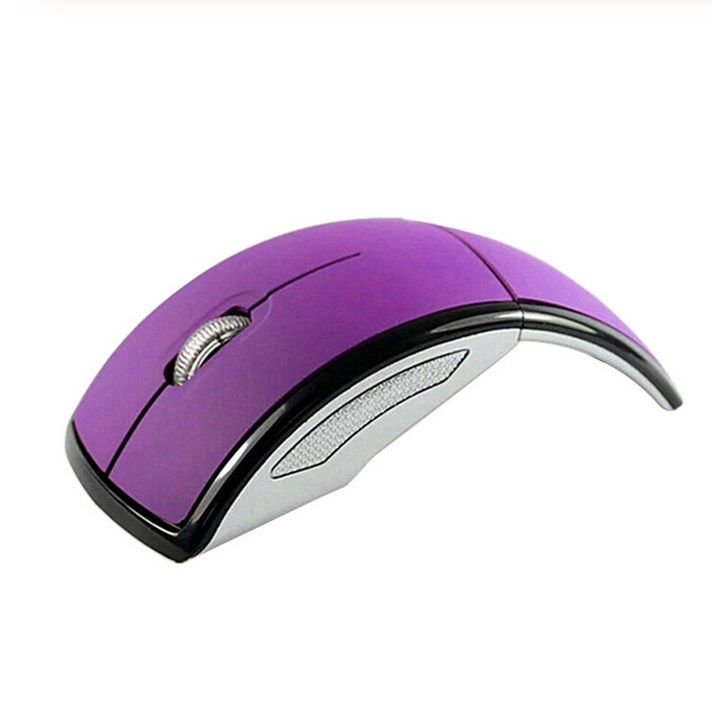 2.4g Wireless Mouse Portable Foldable Notebook Computer Accessory purple