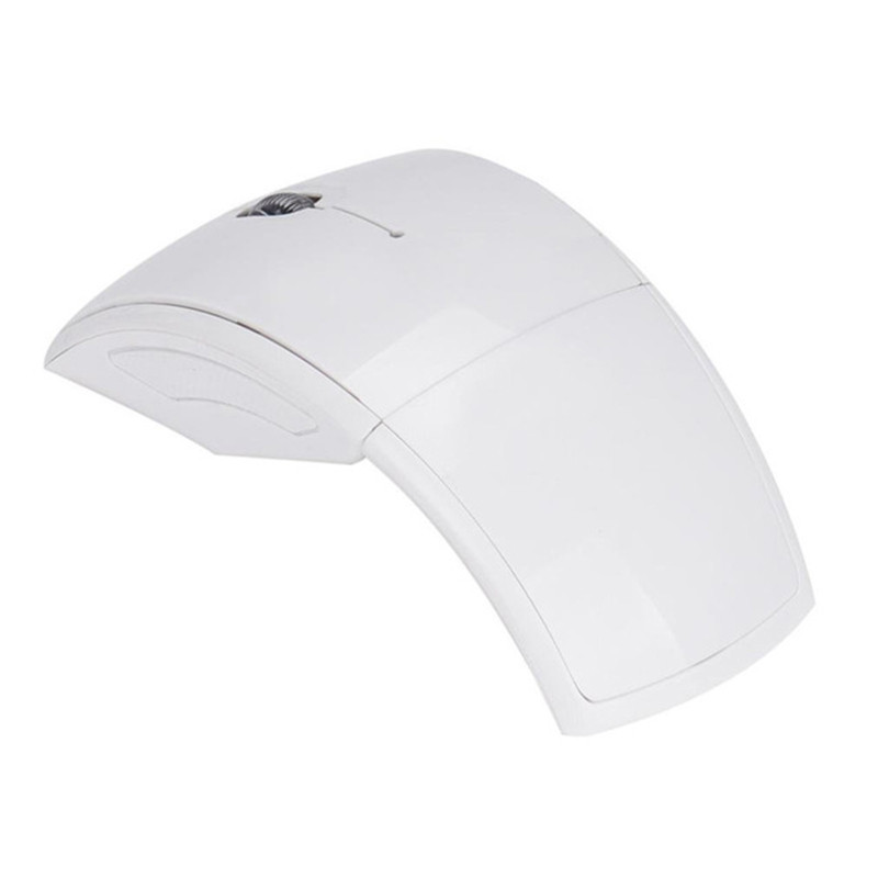 2.4g Wireless Mouse Portable Foldable Notebook Computer Accessory white