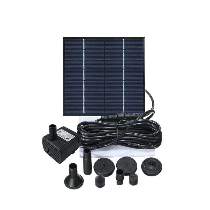 Solar Powered Mini Floating Water Fountain for Pond Garden Patio Decor DC30S-0710 upgrade