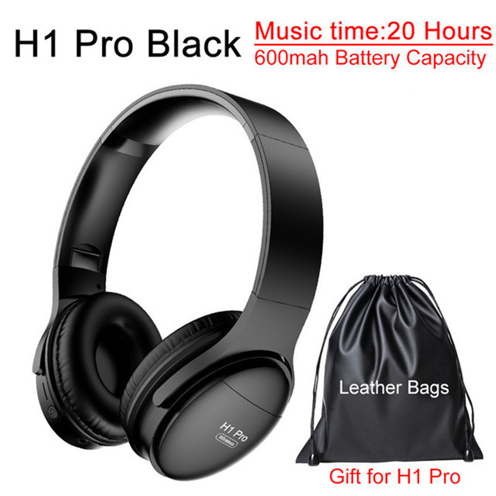 H1 Pro Bluetooth Wireless Headset HIFI Stereo Noise Reduction Gaming Earphone with Microphone H1 pro black