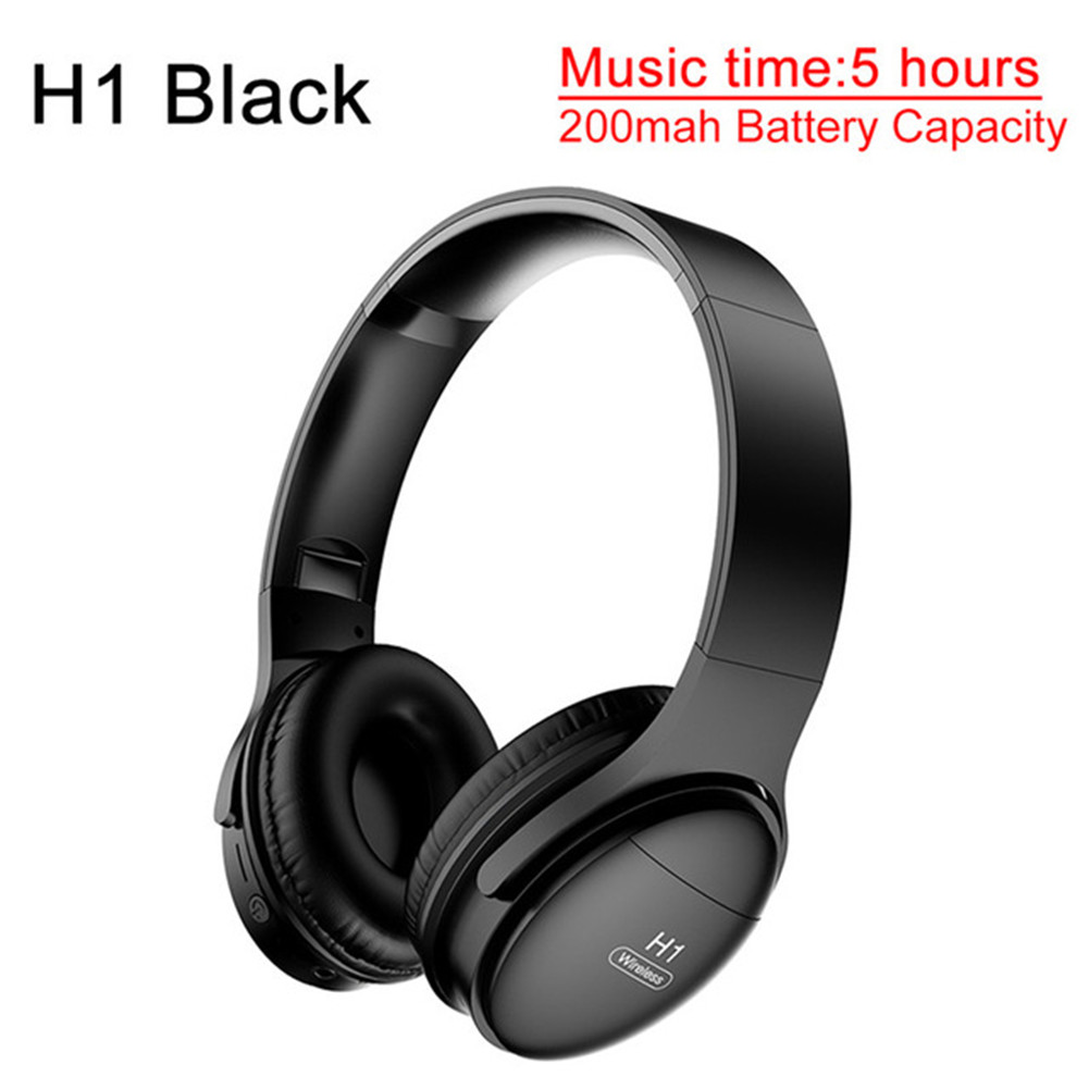 H1 Pro Bluetooth Wireless Headset HIFI Stereo Noise Reduction Gaming Earphone with Microphone H1 black