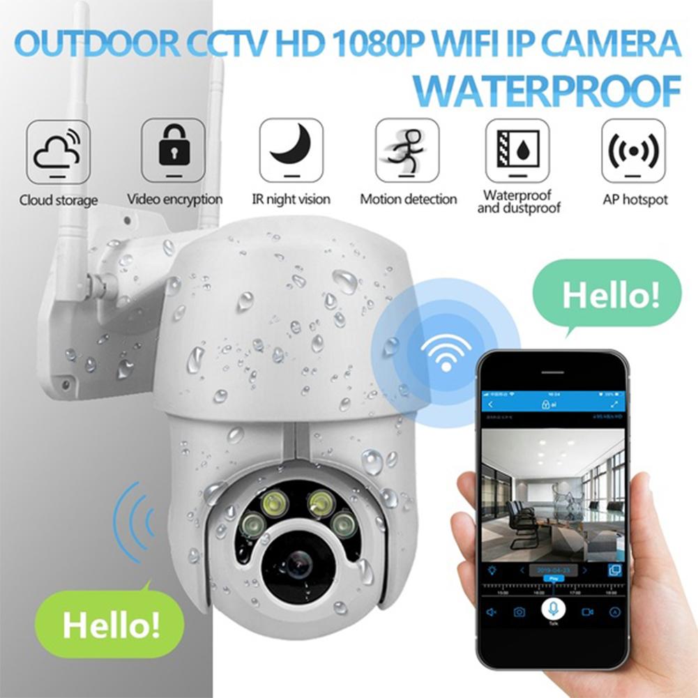 360 Eyes HD Hemispheric Camera WiFi IP Camera CCTV IR Camera Outdoor Security  white_U.S. Plug