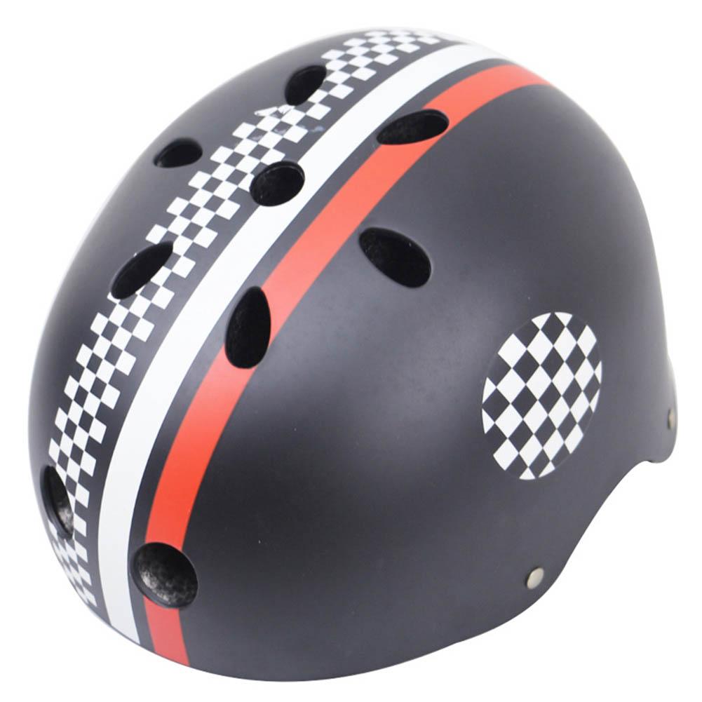 Children Skateboard Helmet Skating Stunt Bike Crash Protective Safety Helmet CE Authentication Exquisite Applique Style black White Red_XL