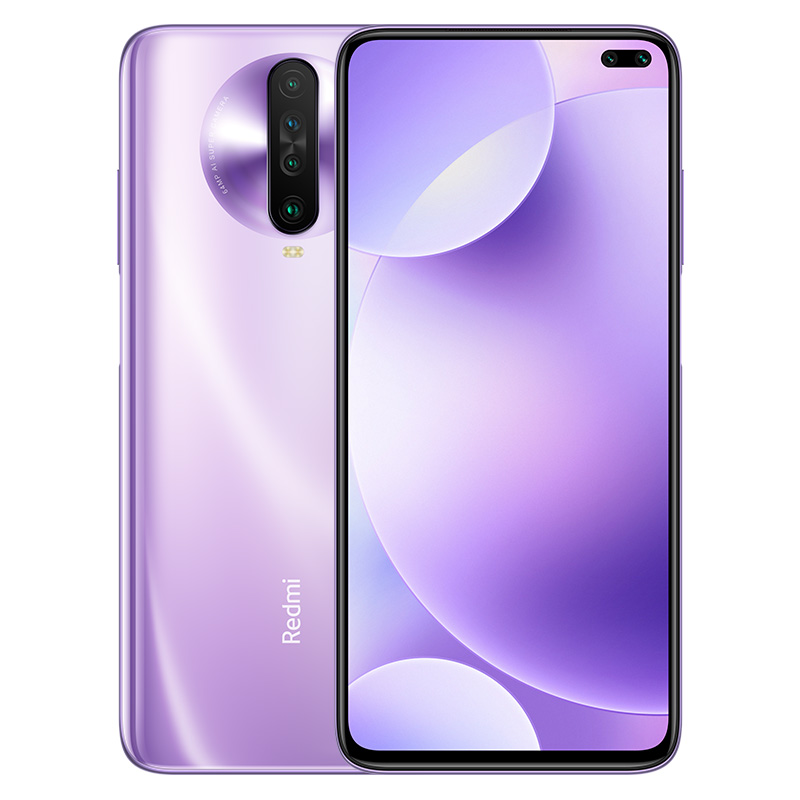 Original Xiaomi Redmi K30 Global Rom WIFI Bluetooth 5.0 GPS OTG Game Turbo 2.0 Fast Charging Phone purple_8 + 256G