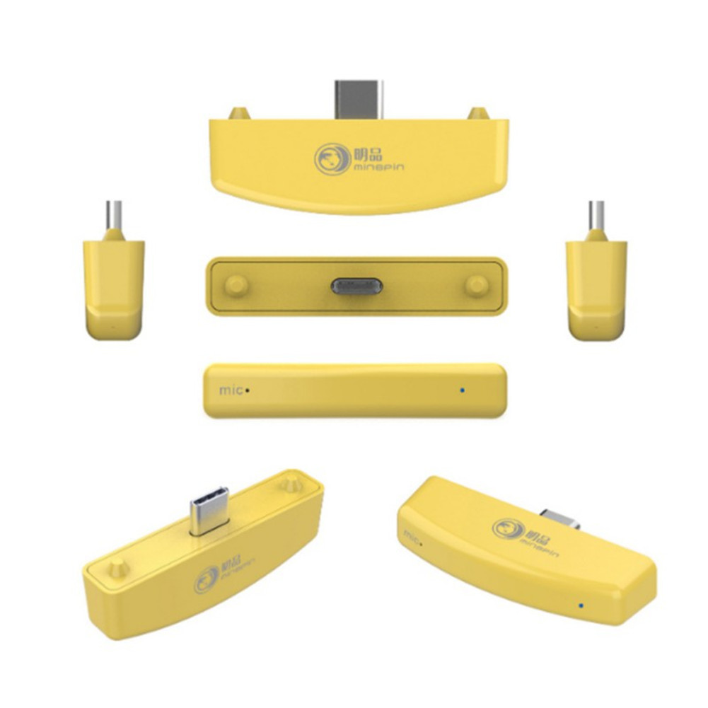 Gaming Wireless Bluetooth Audio Adapter USB Transmitter for Switch lite/PS4/PS3/PC yellow