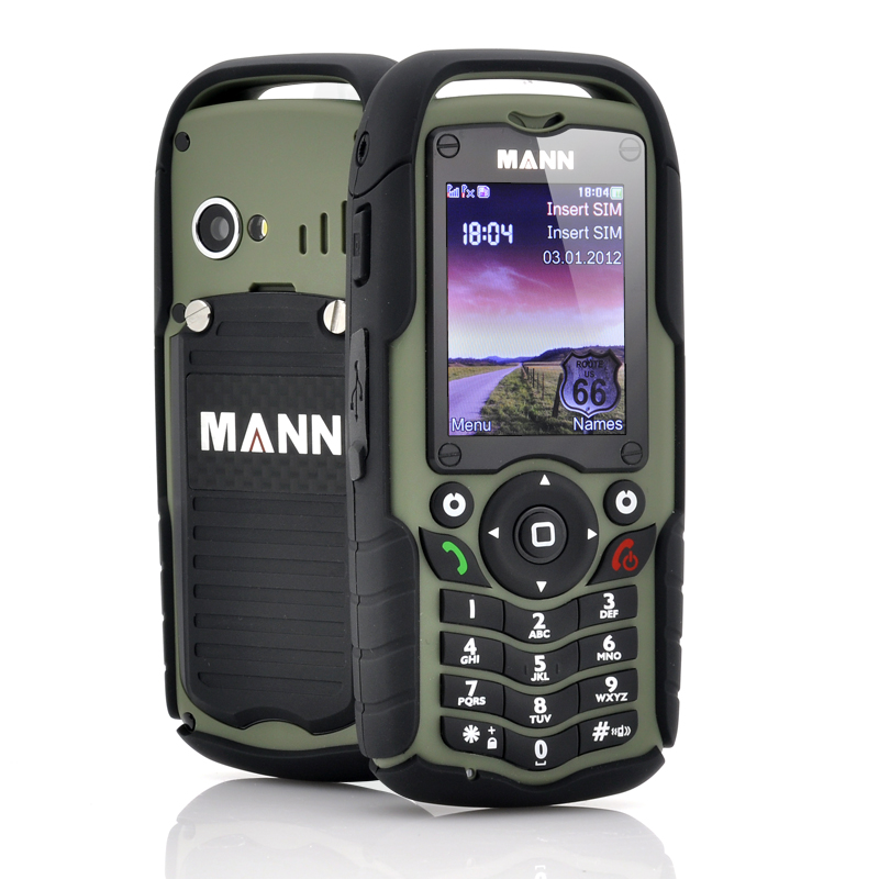 Rugged Mobile Phone MANN ZUG 1 II   Waterproof Shockproof Dust Proof Green on car inverter