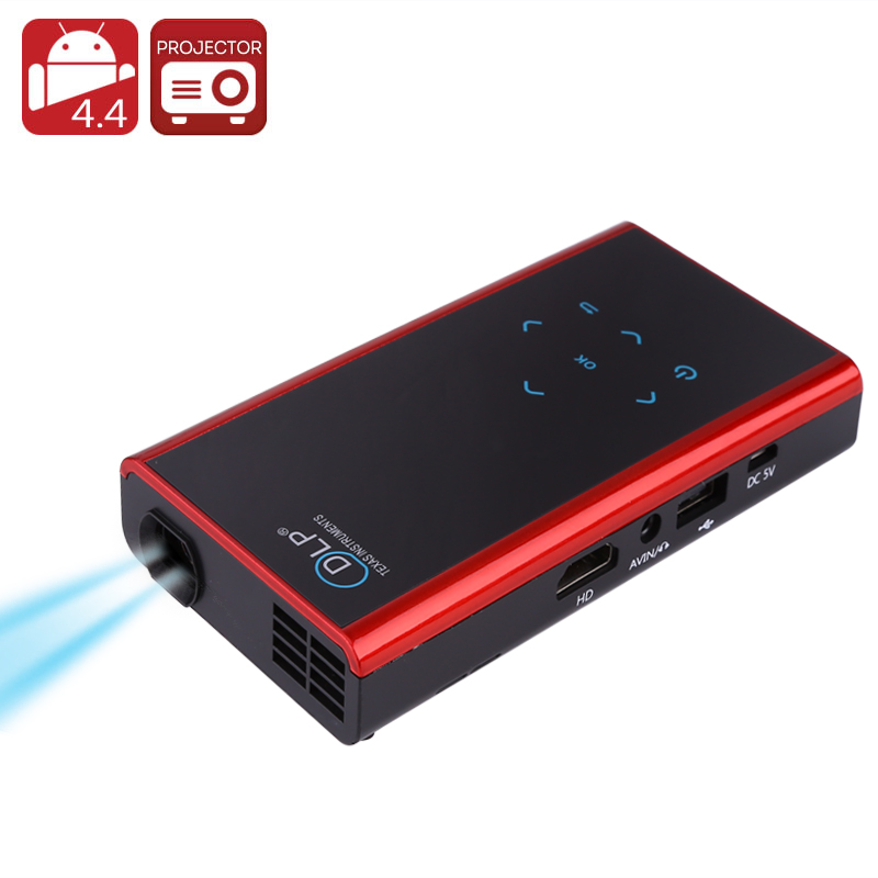 120 Lumen Mini Android DLP Projector (Black)