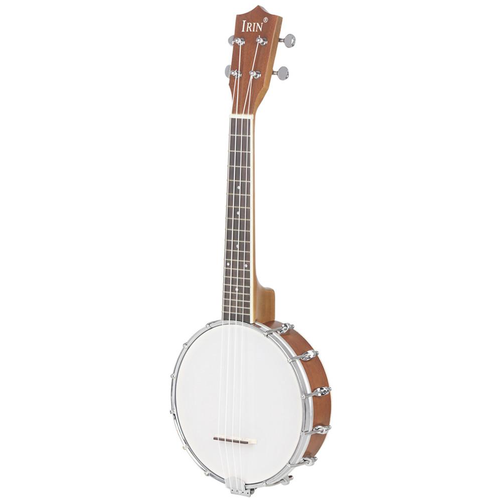 Mini 4 Strings Concert Banjo Uke Ukulele for Musical Stringed Instruments 64x24.5x10CM Gold_4-string small Banjo