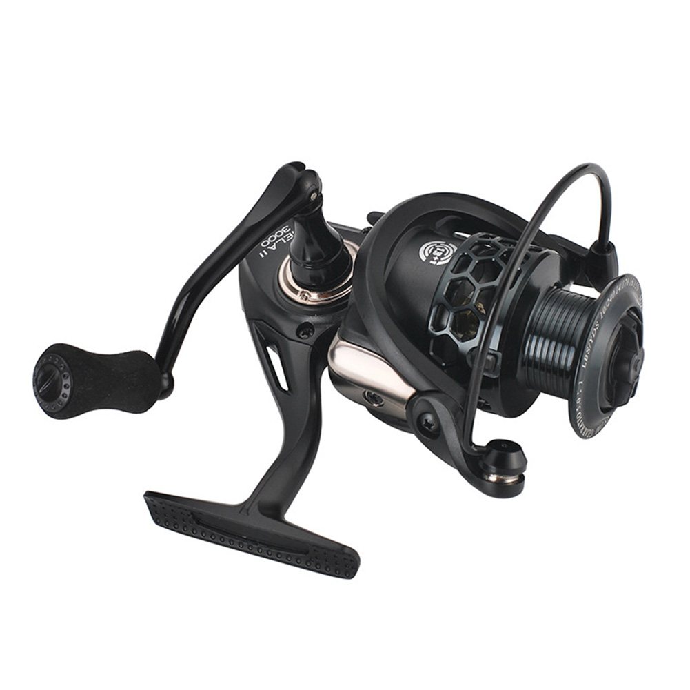 Honeycomb Hollow Spool Black Fishing Wheel Spining Reel Sea Rod Fishing Reel Mela6000