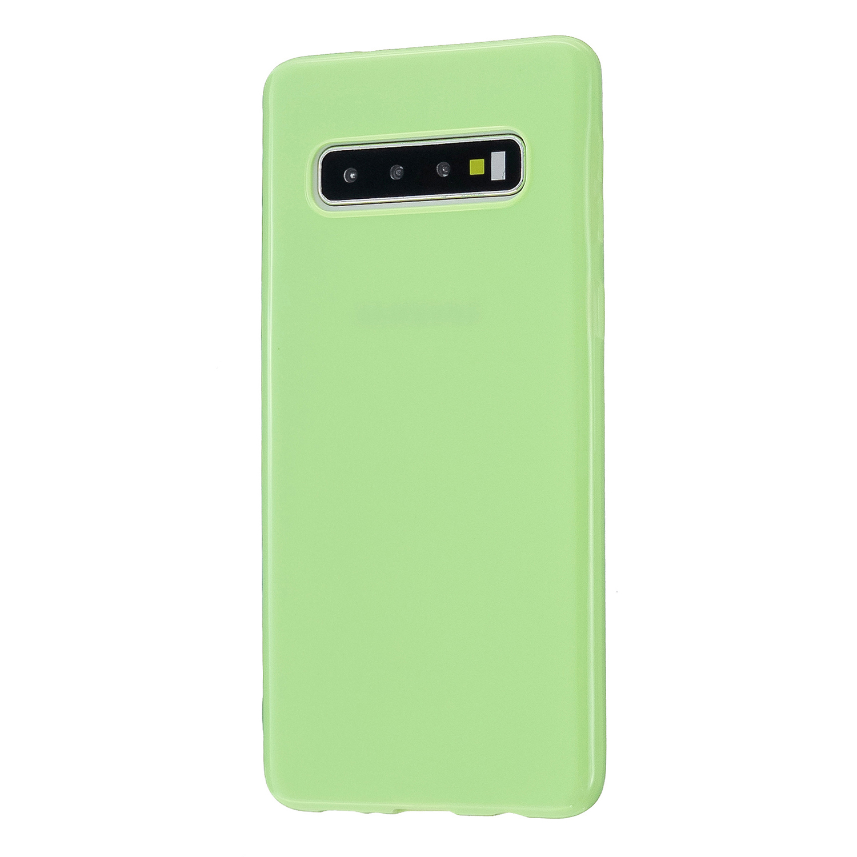 For Samsung S10/S10E/S10 Plus Cellphone Case Precise Cutouts Simple Profile Soft TPU Mobile Phone Shell Fluorescent green