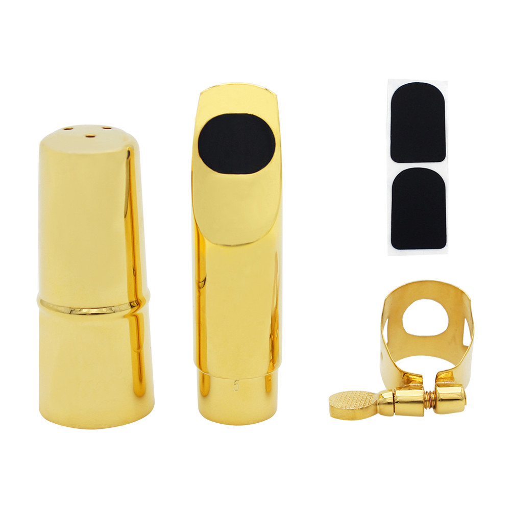 Metal Soprano Saxophone Mouthpiece Nozzle Musical Instruments Accessories(Carton) 7 mouth wind