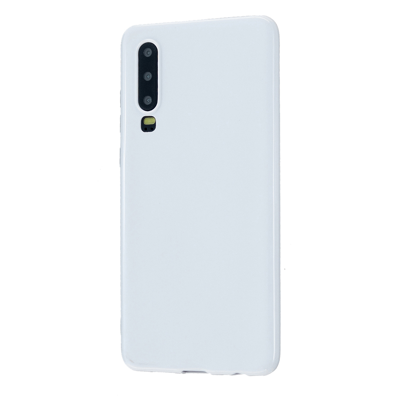 For HUAWEI P30/P30 Lite/P30 Pro Cellphone Case Simple Profile Soft TPU Scratch Proof Phone Shell Milk white