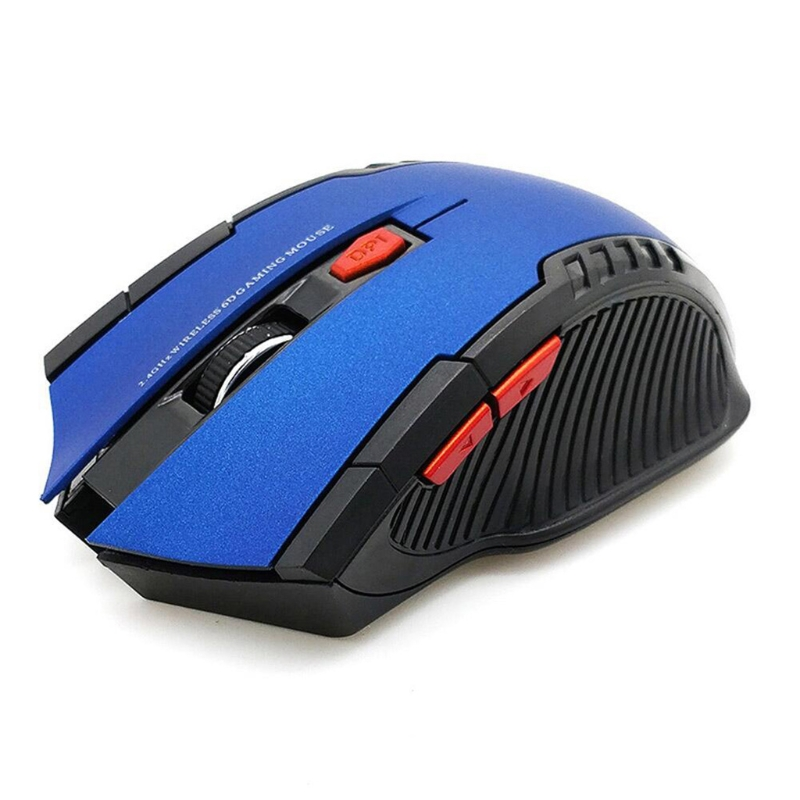 2.4G Wireless Optical Gaming Mouse Low Consumption Ergonomics Portable Wireless Mouse Blue