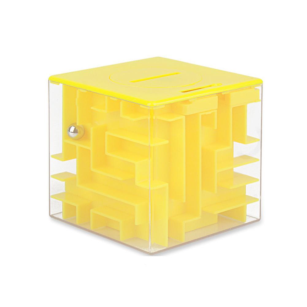 3d  Cube  Maze  Money  Bank Large Coin Collection Case Fun Brain Game Educational Toys For Children Random color
