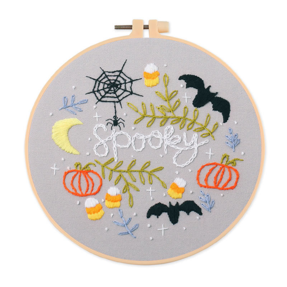 Embroidery Diy  Material  Kit Halloween Style Embroidery Tools Accessories Halloween S360 Embroidery Material Package