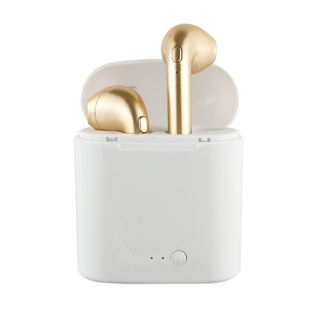 Tws Wireless Headphones for all Smartphones Bluetooth 5.0 Sport Earbuds Headset With Mic Charging Case Golden