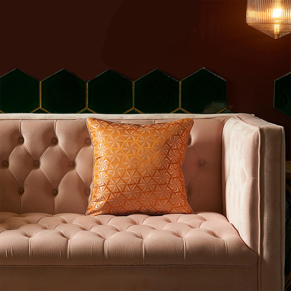 Artificial Silk  Pillowcase  45*45cm High-precision Pillow  Cover For Living Room 1