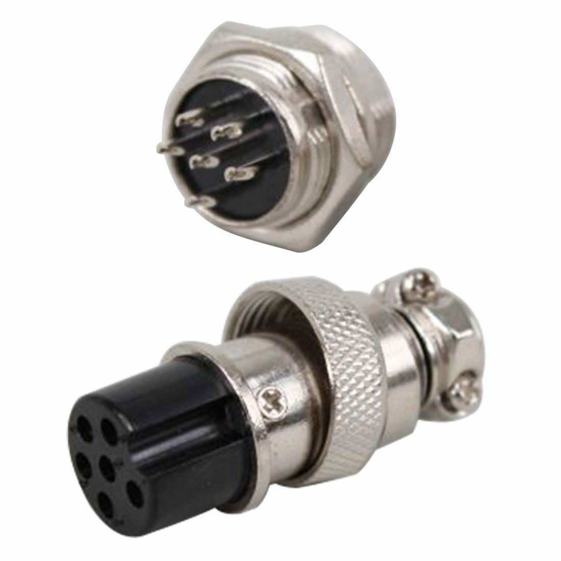5Pair GX12mm 2-8Pin Female & Male Connector Plug Socket Metal Aviation Plug GX16 6P