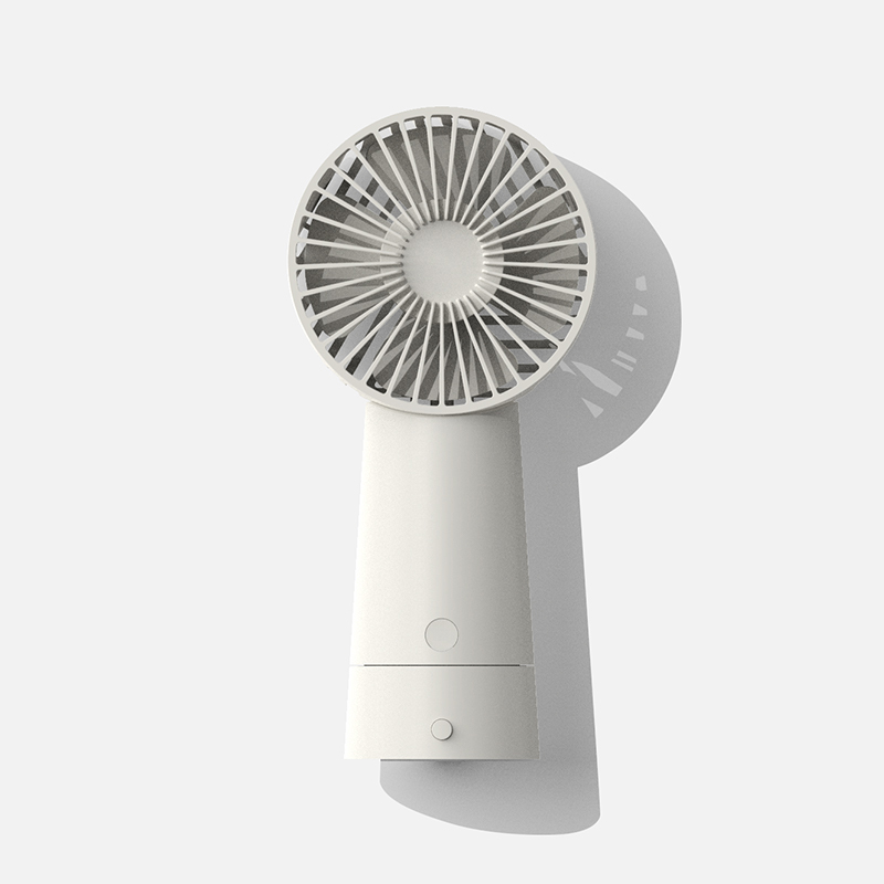 F 1 3-Speed Fan With Strong Wind Speed Magnetic Charging Large Capacity Long Battery Life white